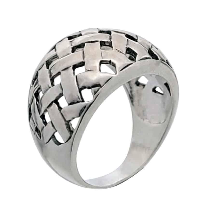 Anillo trenzado celta en plata (1)