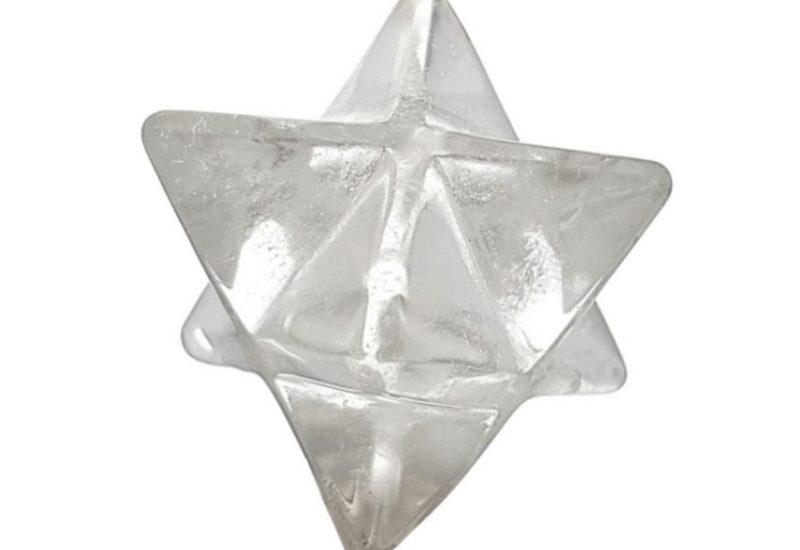 Estrella de 8 puntas merkaba de cuarzo cristal de roca