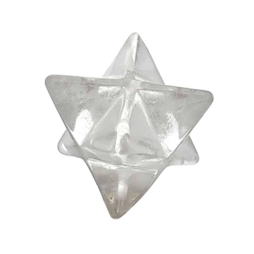 Estrella Merkaba de cuarzo cristal de roca.