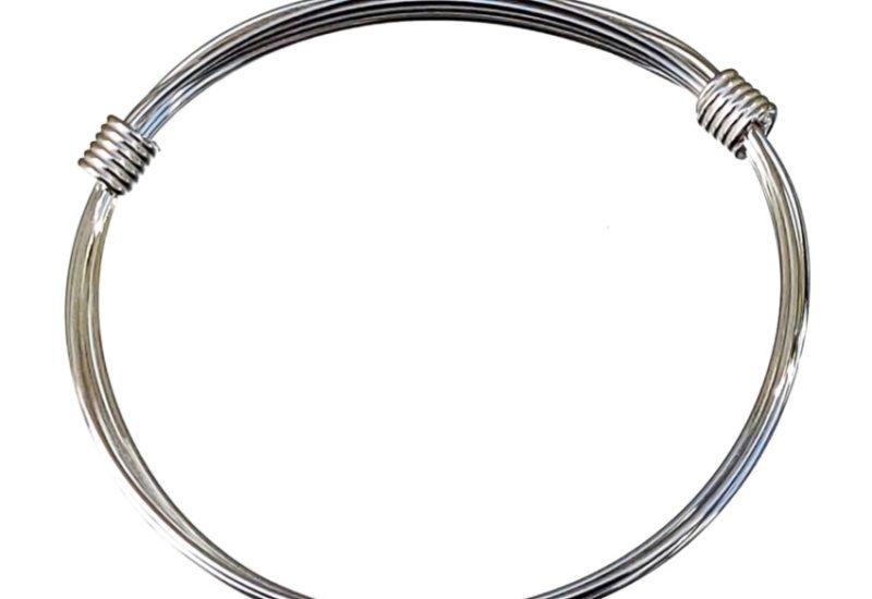 Pulsera africana de nudos corredizos de 6 hilos de plata 925