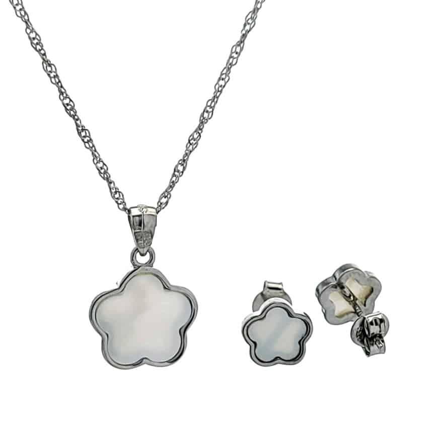 conjunto flor nácar en plata (1)