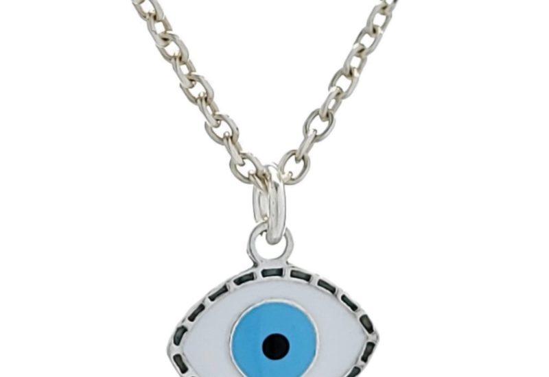 Colgante símbolo ojo turco de Plata de Ley 925 mls.