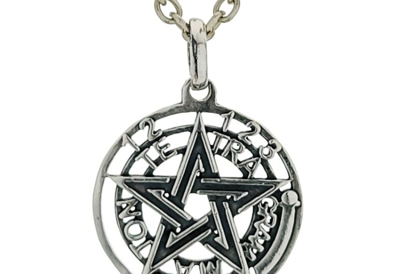 Colgante símbolo de protección Tetragramatón en plata 925