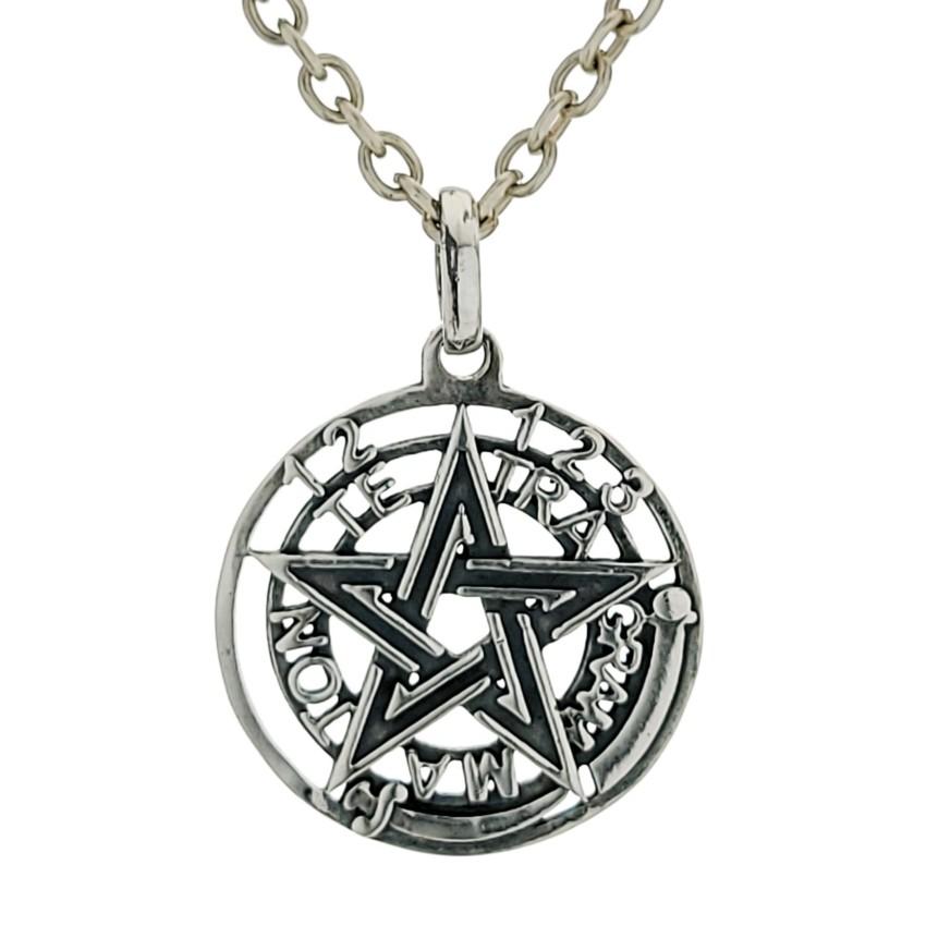 Colgante símbolo de protección Tetragramatón en plata 925 (3)