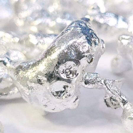 Granalla de plata o plata en granos de ley 999,9