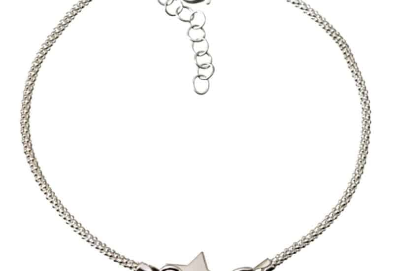 Pulsera estrella central en plata 925