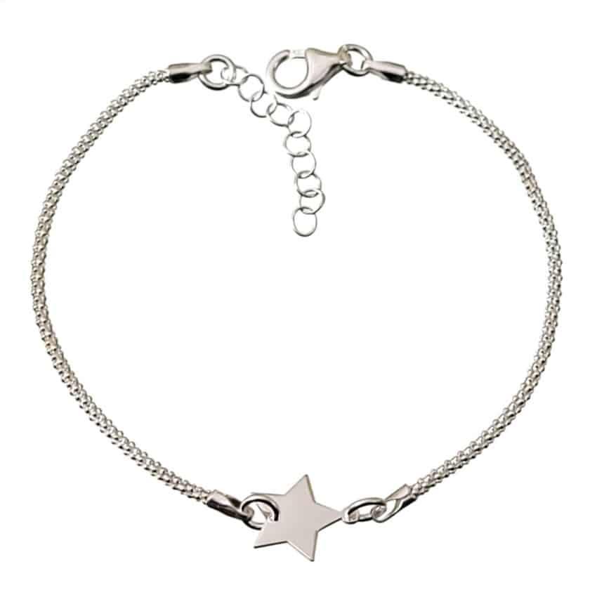 Pulsera estrella en plata 925 (1)