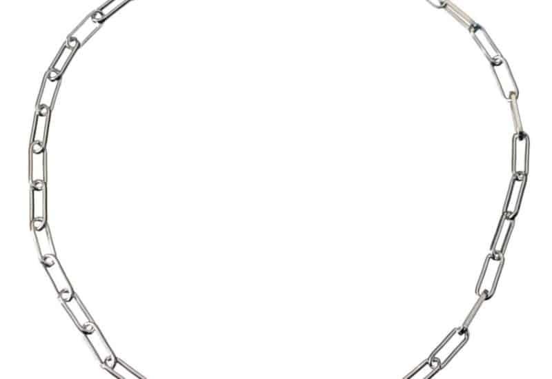 Pulsera rectángulos 19 cms de largo con silueta de corazón