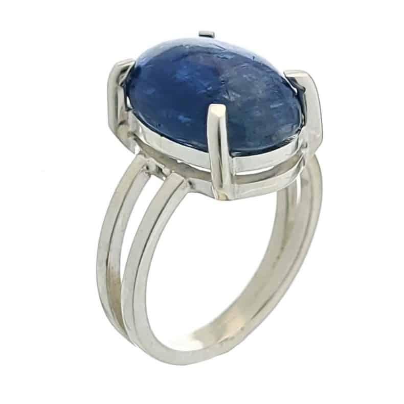 Anillo de plata 925 con piedra de cianita azul (3)