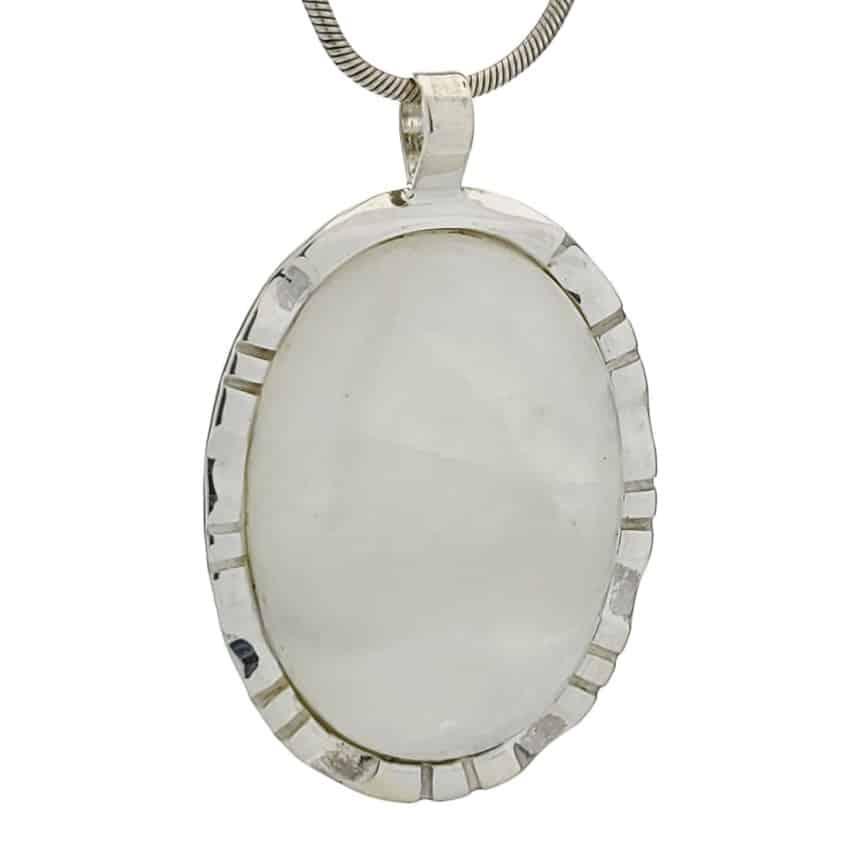 Colgante piedra luna de base oval en plata 925 (2)