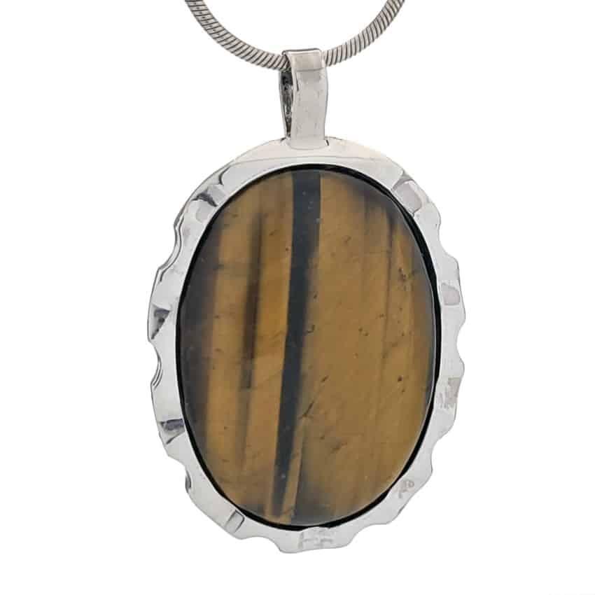Colgante plata 925 con piedra oval de ojo de tigre (2)