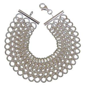 Pulsera cadena cota de malla en plata 925