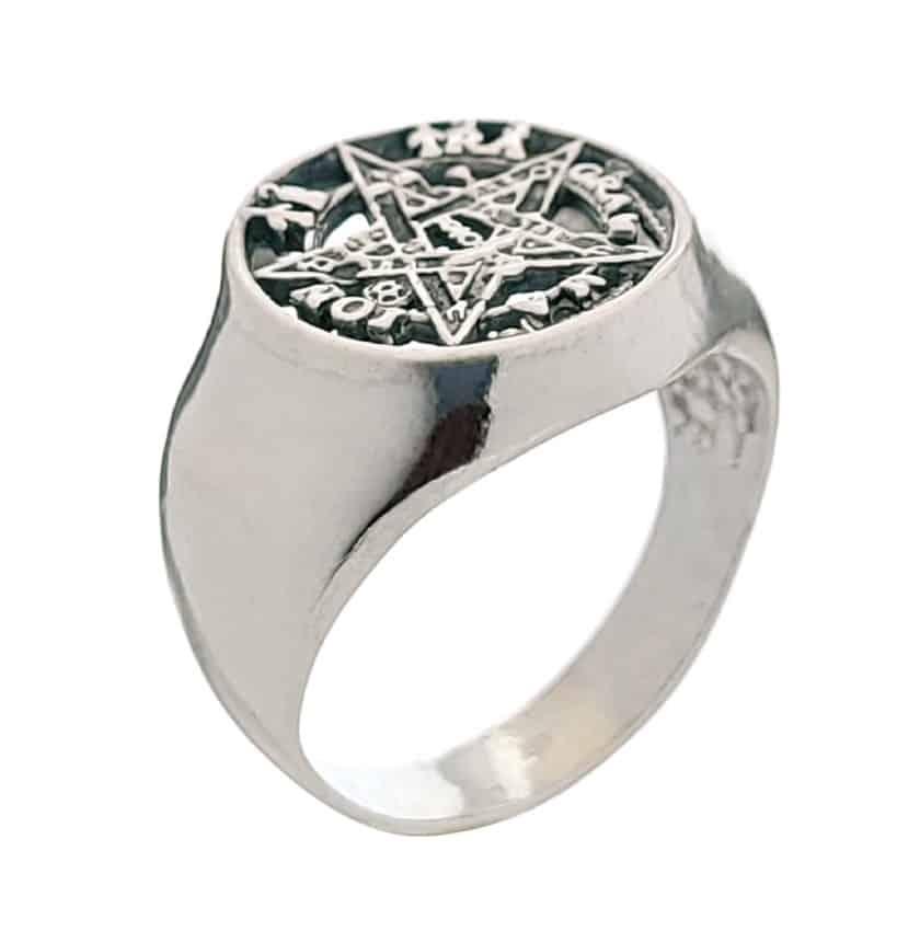 Anillo sello tetragramatón