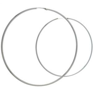 Aros básicos lisos redondos 80 mm. x 2 mm. en plata