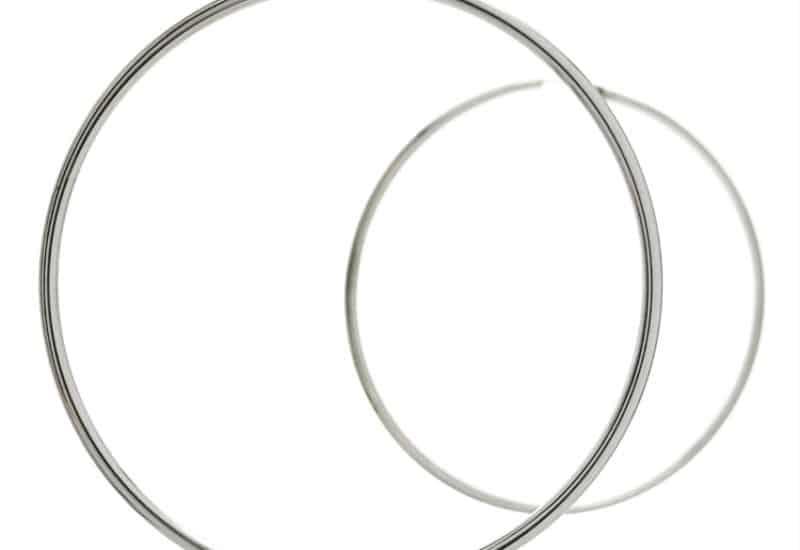 Aros básicos lisos redondos 60 mm. x 2 mm. en plata