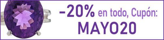 Descuento del 20% con el cupón MAYO20