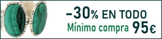 -30% en todo con el cupón VERANO30 (Mínimo de compra para aplicar cupón 95 €)