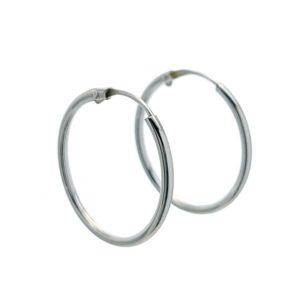 Aros básicos lisos redondos 20 mm. x 1,2 mm. en plata