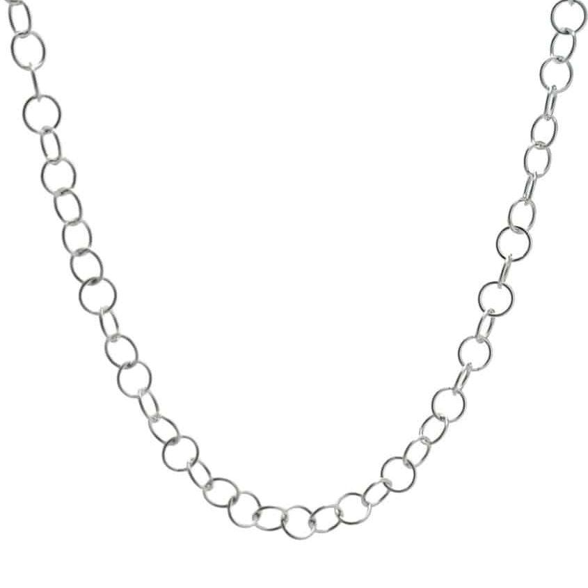 Cadena plata choker eslabones redondos de 40 cms (1)