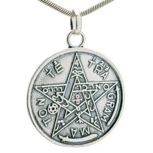 Colgante pentagrama en plata 925