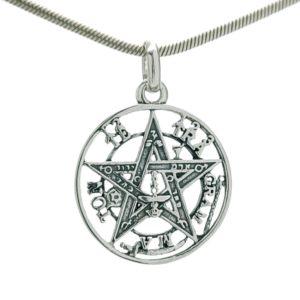 Colgante tetragramatón de plata 925 de 20x27 mm