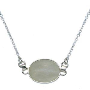 Gargantilla de plata 925 con piedra luna central
