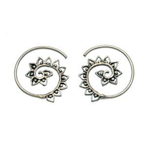 Aros espirales vintage en plata de 20 mm.