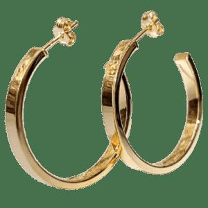 Pendientes aros fabricados en Plata de ley 925 mls chapados en oro