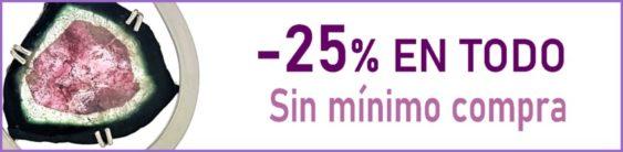 -25% EN TODO, descuento automático y sin mínimo de compra (no necesita cupón)