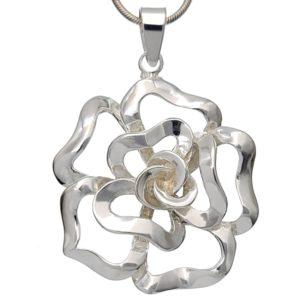 Colgante flor Rosa de plata 925