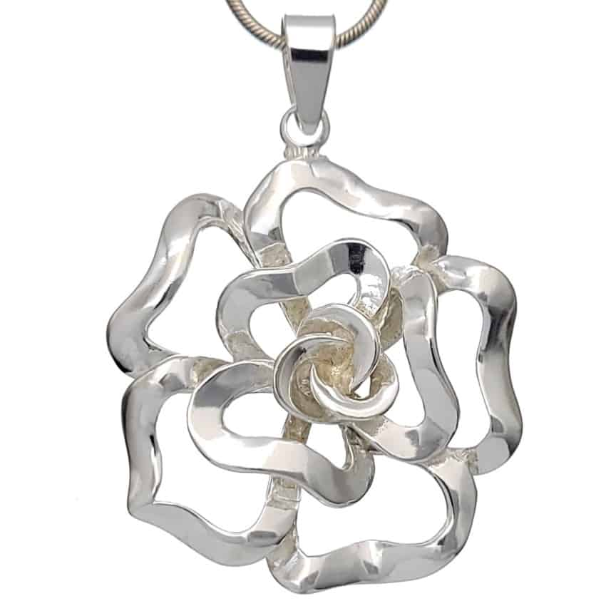 Colgante flor en plata (1)