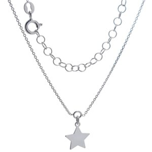 Tobillera de plata 925 con colgante estrella