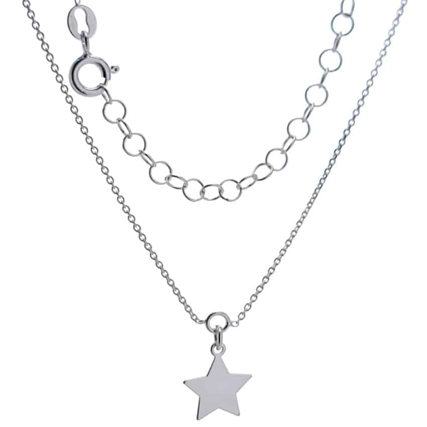 Tobillera plata con estrella (1)