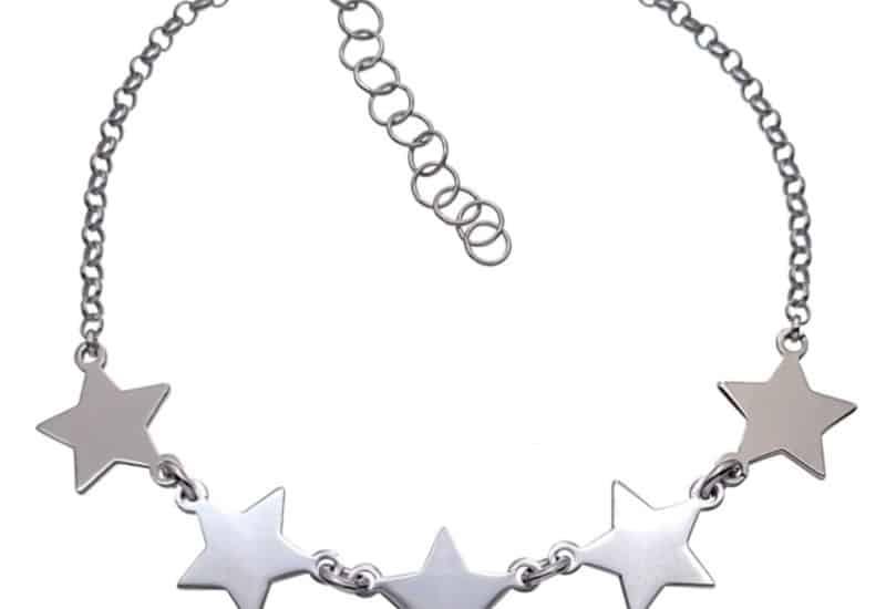 Pulsera estrellas de plata