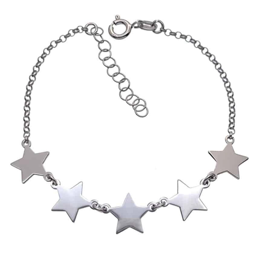 Pulsera estrellas de plata (2)