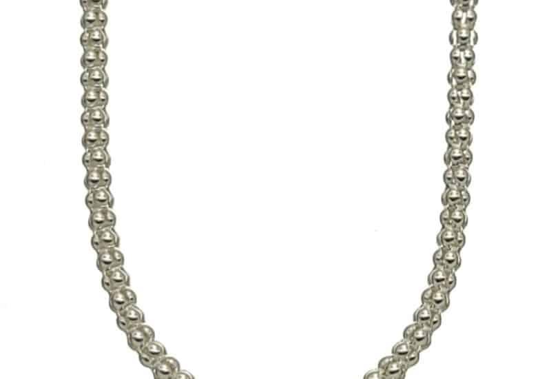 Cadena COREANA de 60 cm de largo y 2,7 mm de grosor en plata
