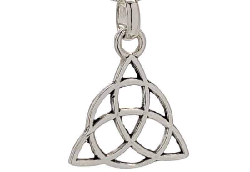 Colgante símbolo de la Triqueta en plata 925