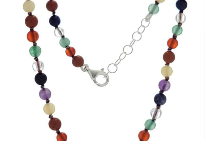 Collar bolas de 4 mm de las piedras de los chakras