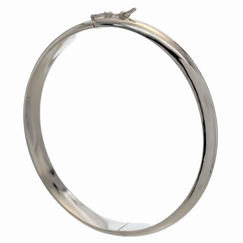 Pulsera media caña de plata y grosor de 7,5 mm (1)