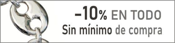 Te descontamos el 10% en tus compras automáticamente, sin necesidad de cupón Sin mínimo de compra
