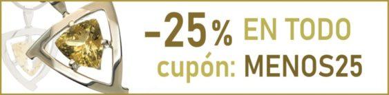 -25% EN TODO, con el cupón MENOS25 a partir de 60 € de compra